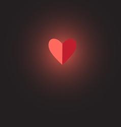 Sign heart love vector