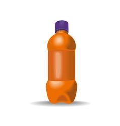 Soda Bottle with Cap vector image