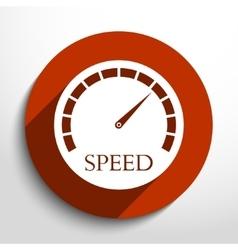speedometer web icon vector image