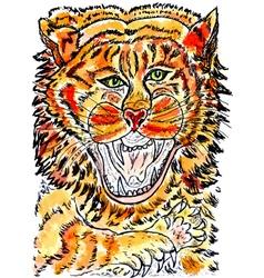 Tiger Sketch01 vector image