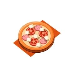 Tomato sausage pizza vector