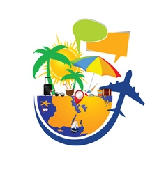 travel icon in colorful vector image
