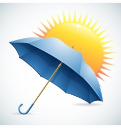 umbrella and the sun vector image vector image