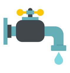 Water tap icon isolated vector