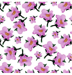 Watercolor floral seamless pattern with flowers vector
