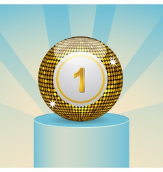 winning bingo ball vector image vector image