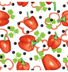peppers and parsley vector image