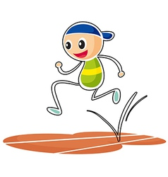 A sketch of a boy running vector