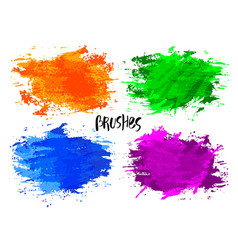 Watercolor blot texture bright brushes vector