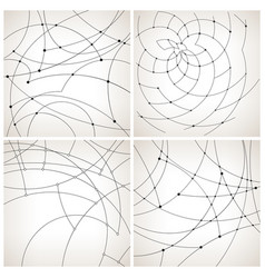 set of monochrome geometric backgrounds vector image