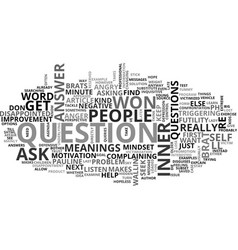 Why not why text word cloud concept vector