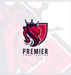 lion king logo design vector image