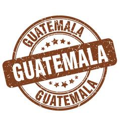 Guatemala brown grunge round vintage rubber stamp vector