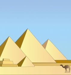 Group of the egyptian pyramids vector