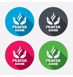 Prayer room sign icon religion priest symbol vector
