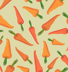 Carrot seamless pattern vegetable background vector