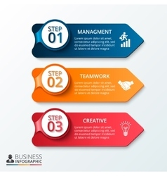 Arrows workflow infographic vector