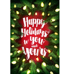 Happy holidays typographic poster vector
