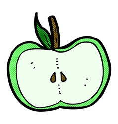 Comic cartoon apple half vector