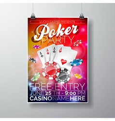 Party flyer design on a casino theme vector