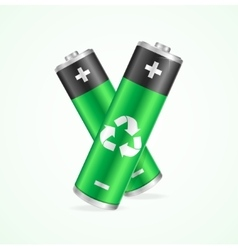 Recycling concept battery vector