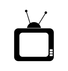 Television  over white vector