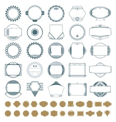 Insignia stamp set vector image