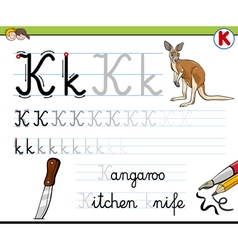 Learn to write letter k vector