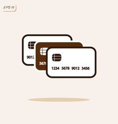 Credit plastic cards vector