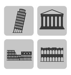 Landmark icon Italy culture design vector image