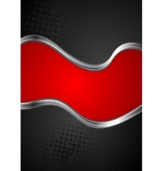 Abstract silver metallic waves background vector image vector image
