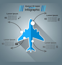 airplane infographic business icon vector image