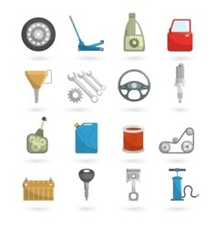 Auto service icons flat vector