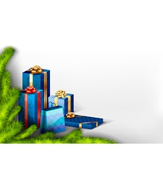 Blue Gifts vector image vector image