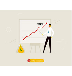 business coach at the blackboard vector image vector image