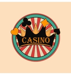Casino and gambling emblem vector image vector image