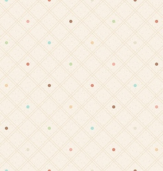 Checkered color seamless textured polka dots vector image vector image