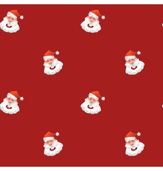 Christmas design element jolly santa claus pattern vector