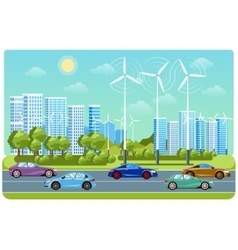 City life and urban landscape vector