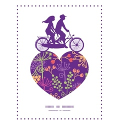 colorful garden plants couple on tandem vector image vector image