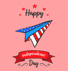 Colorful independence day greeting card vector
