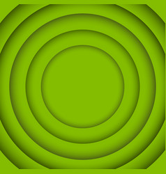 Concentric circle greenery background vector