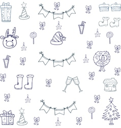 Doodle of christmas hand draw object vector