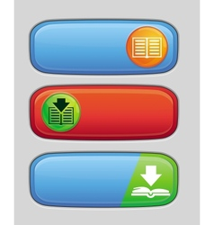 Download button for electronic book vector