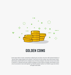 golden coins vector image