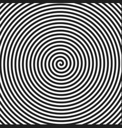 hypnotic spiral vector image vector image