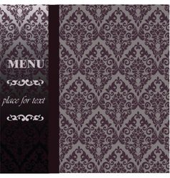 Menu Vintage background with ornaments vector image vector image