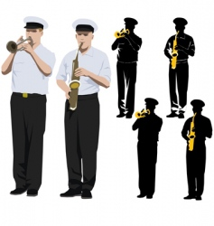 military musicians vector image