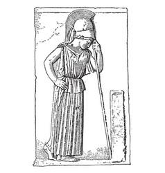 Mourning athena vintage vector
