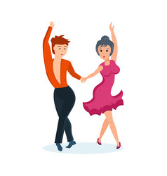 passionate dance cha-cha in interesting setting vector image